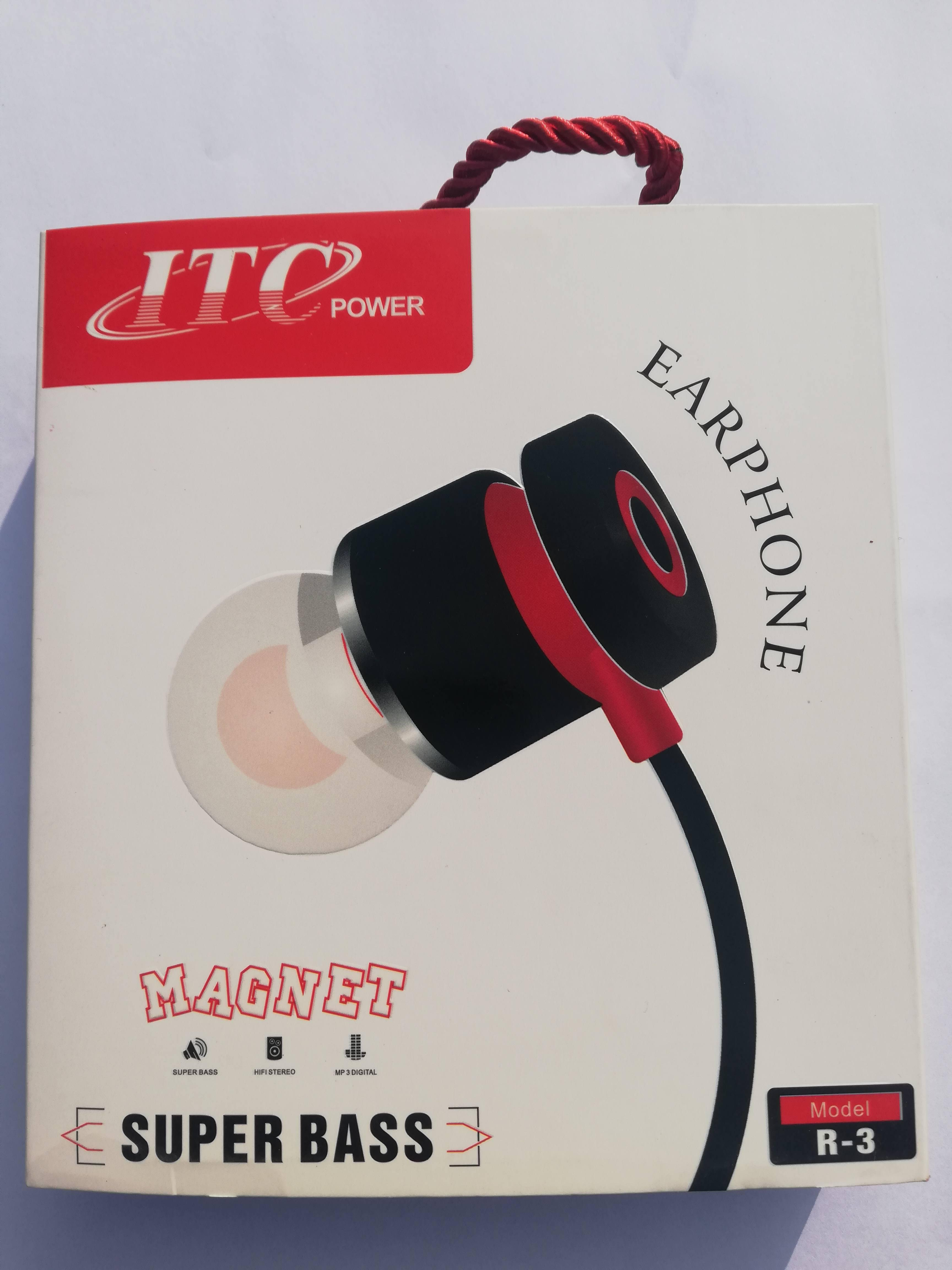 ITC R-3 Super High Bass Stereo Sound with Woofer effect Metallic Earphone/Hands free Suitable for All Devices