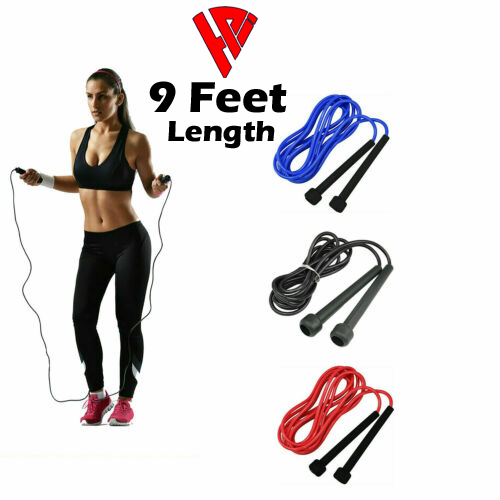Professional Jumping Rope  Skipping Rope  Jump speed rope  smart jump rope  for girls , boys , kids (Nylon) for Adults (9ft) Skipping Rope for Men , Women, girls and Kids