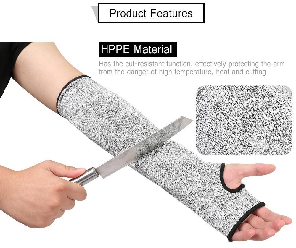 Level 5 Anti-cutting Standards Cut-resistant Armband Flexible Anti Abrasion  HPPE Wear-Resistant Working Safety Sleeve