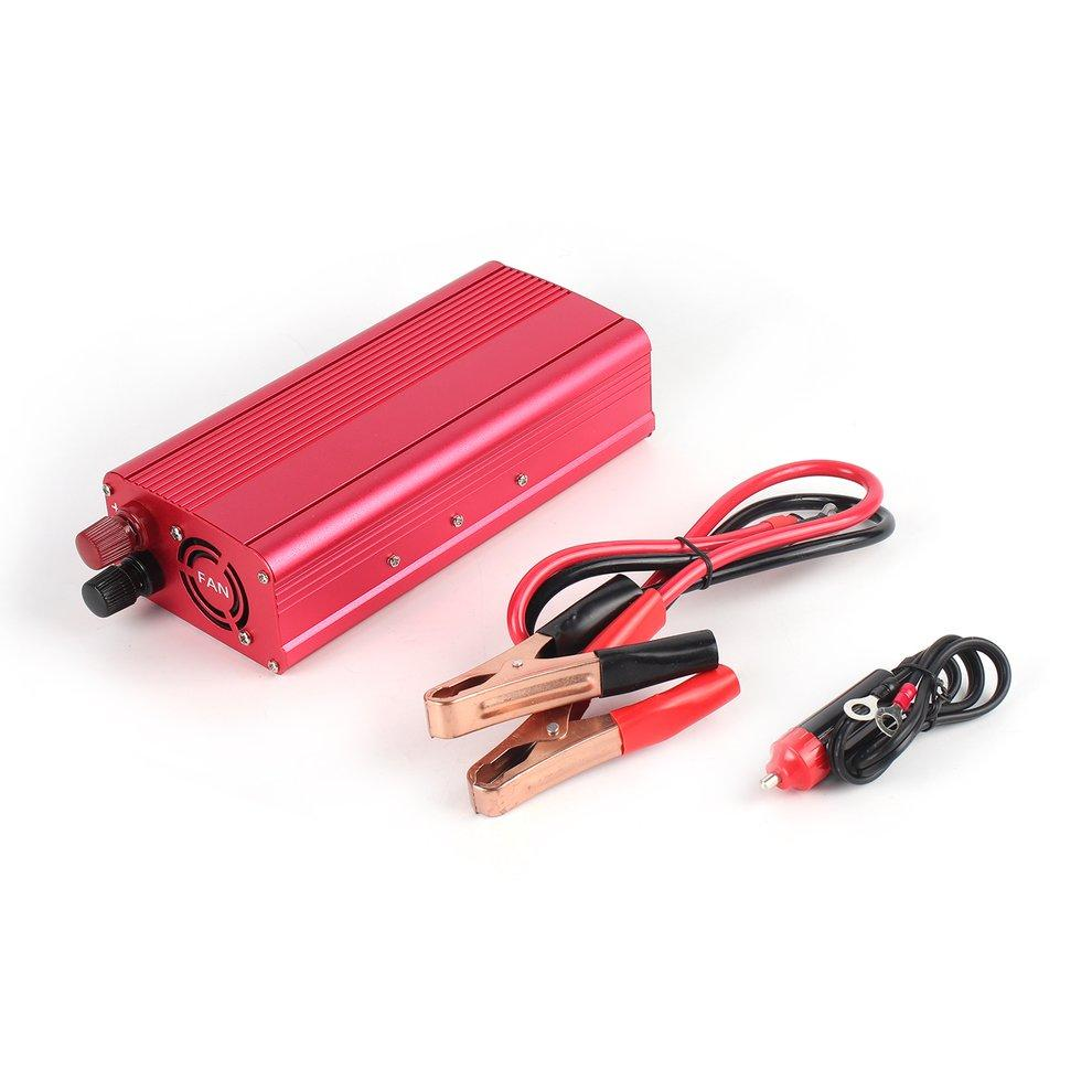 Erneuerbare Energie Photovoltaik-zubehör Dc 12v To Ac 240v Power Converter Red Dual Usb Ports Car Voltage Converter Ef