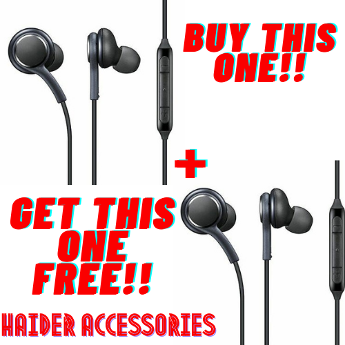 Buy 1 get 1 free offers-Best Universal Original Handsfree - Quality Stereo Bass Sound for PUBG Gamming Watching Movies - Wired with Mic Super comfortable handfree for girls men - 3.5mm jack Earphones Ear Buds AKG for Android Mobile Phones Tablet PC