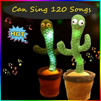 Cactus Plush Funny Electronic Shaking Cactus Singing Dancing Cactus Twisting Cactus Cute Plush Toy Education Toy Plush Toy with 120 Songs for Home Decoration and Children Playing Birthday Gift Kids Toy