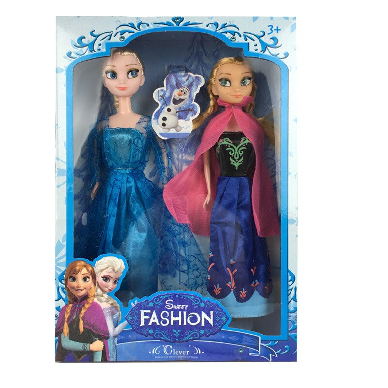 Disney doll  Frozen Anna & Elsa Fashion Doll 2-Pack Limited Distribution-30cm Disney Frozen 2 Toys Princess Elsa Anna Olaf Fashion Dolls Accessories Collection Action Figure Model Girls Christmas Gifts