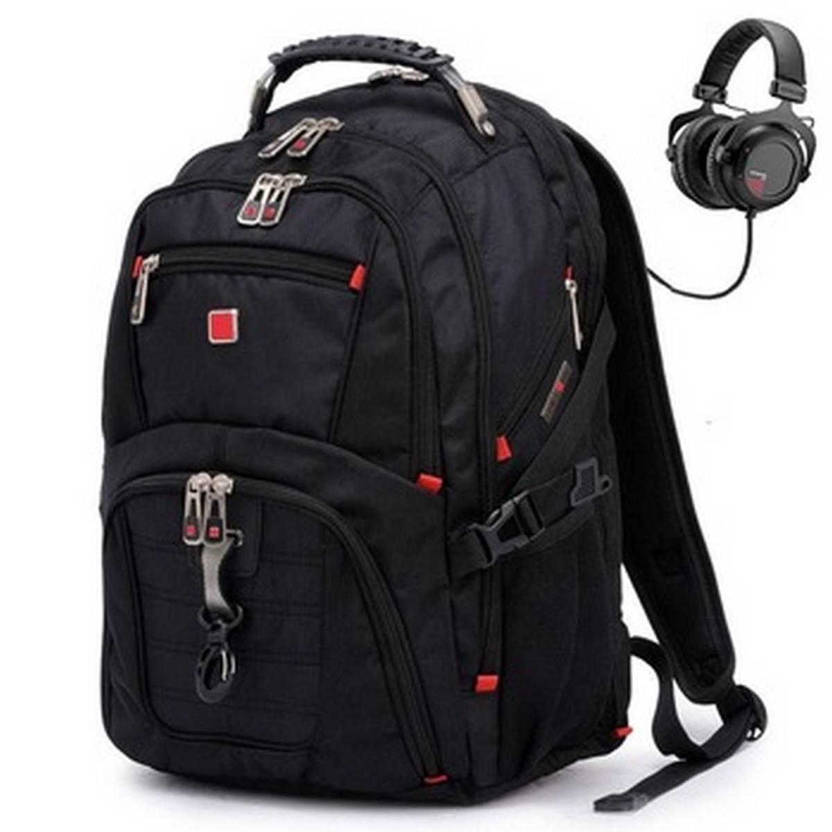 Men Backpack For School , College , Business , Laptop holder with USB Charging Port