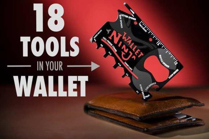 Wallet Ninja 18 in 1 Multi-purpose Credit Card Size Pocket Toole Kit