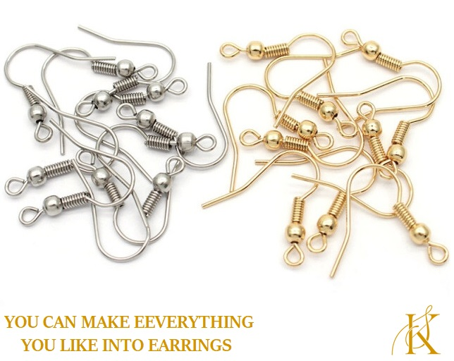 Earring Hooks Base 100 Pieces For DIY Jewellery Making