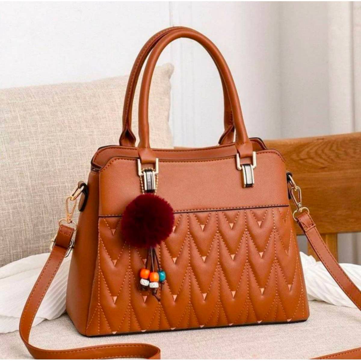 Women Ladies Girlks Luxery Pu Faux Leather Soft Leather Canavas Branded Handbag Casual Hand Purse