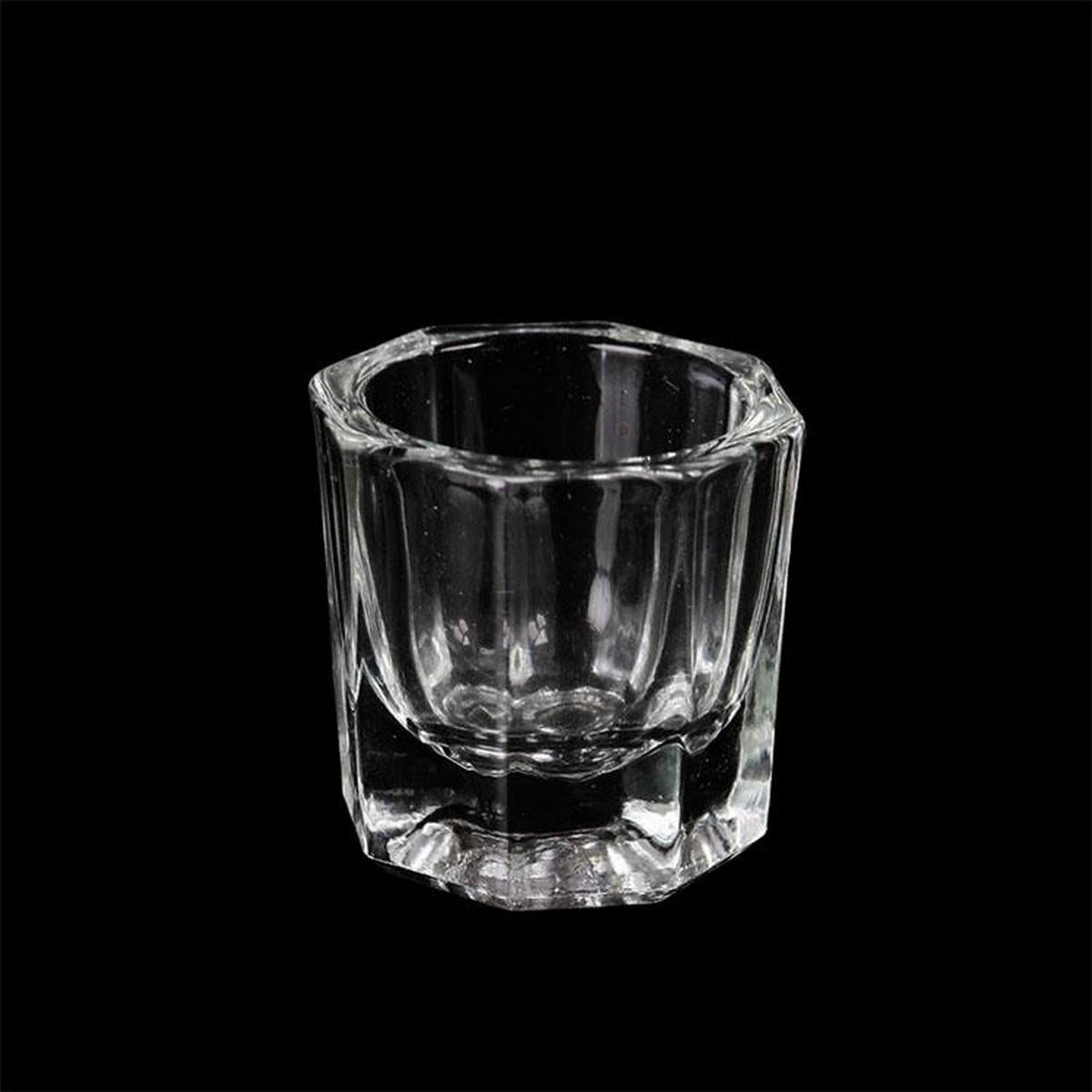 Crystal Tint Bowl Glass Dappen Dish Nail Art Acrylic Liquid Holder Container