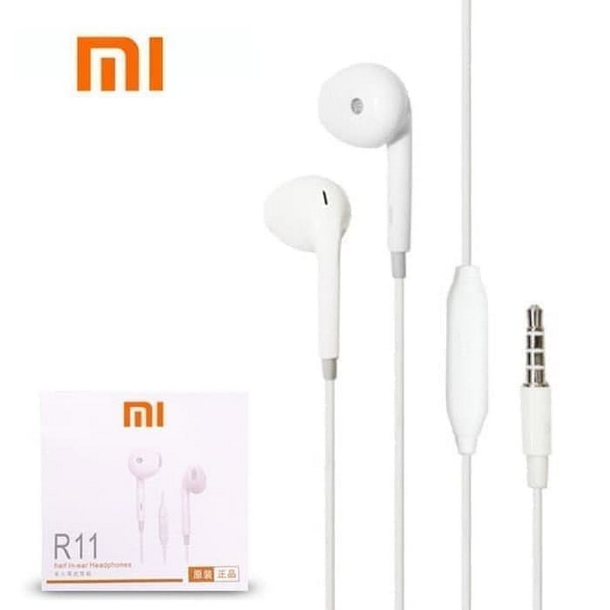 MI Handsfree For Mobile and Laptop Universal Handfree Ear Phone For Computer Wired Earphones Deep Bass Stereo Earbuds Handfree with Mic By DS Accessories