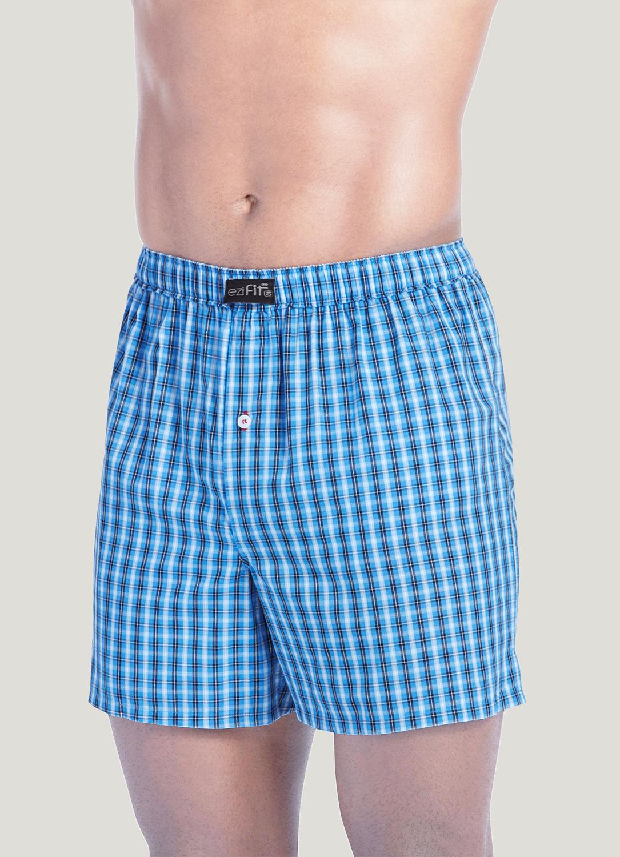 EziFit Pure Cotton Fabric Woven Boxers Trunks For Men