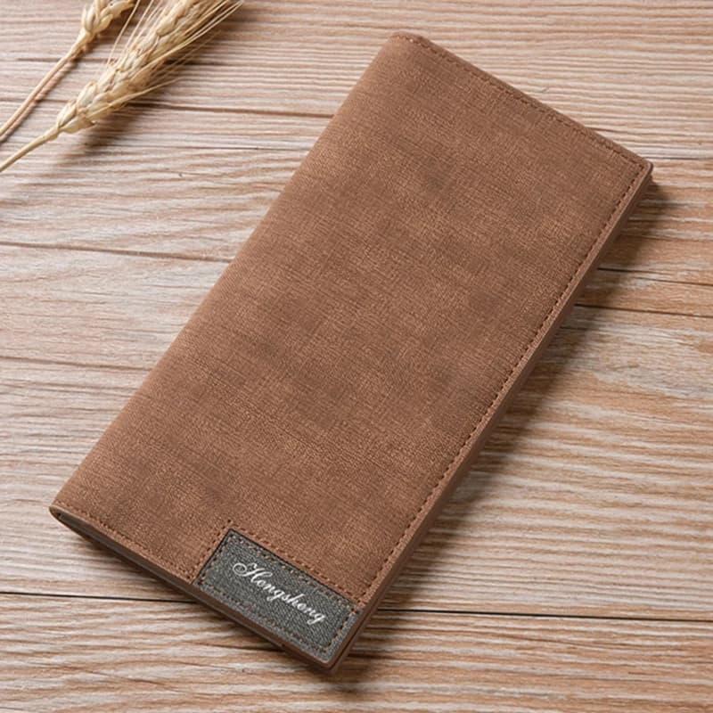 Slim long wallet for men
