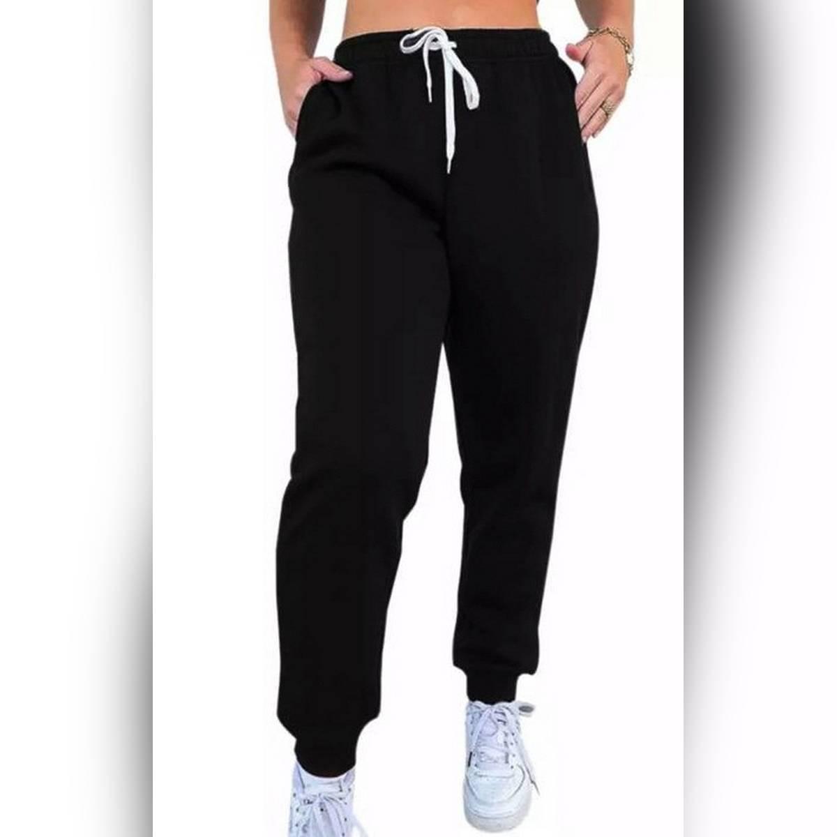 Women High Waist Pant Solid Beige Loose Joggers Female Trousers 2021  Autumn Winter Chic Track Pants Capris Sweatpants