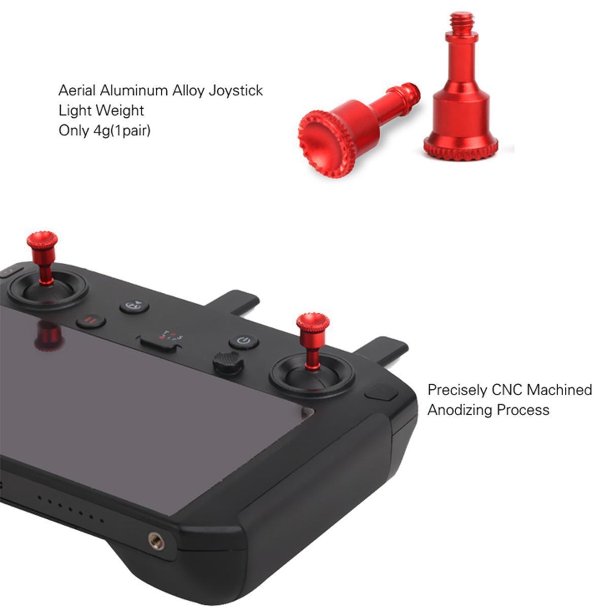 Sunnylife Aluminum Alloy Thumb Rocker Joysticks for DJI Smart Controller --  Black / Red