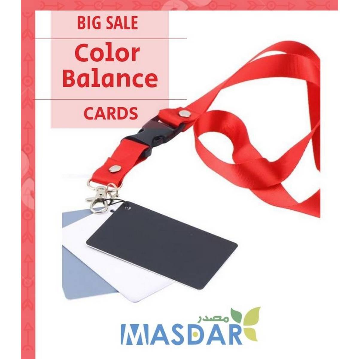 Digital Camera 3 in 1 Pocket-Size White Black Grey Balance Cards - Multicolor