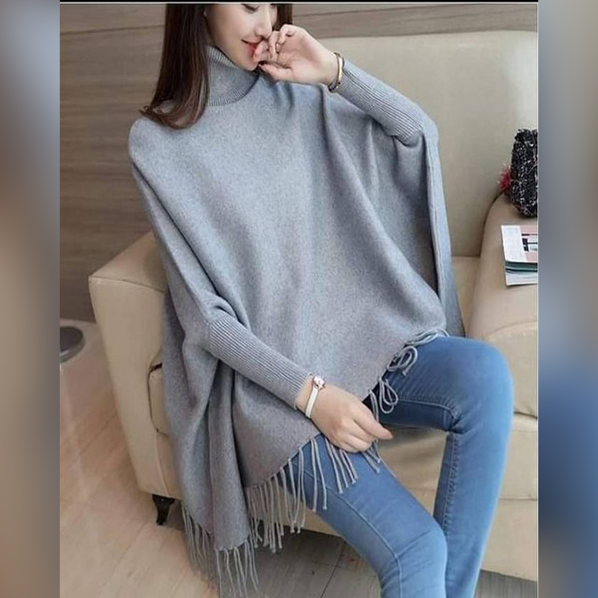Simple Poncho For Girls And Women