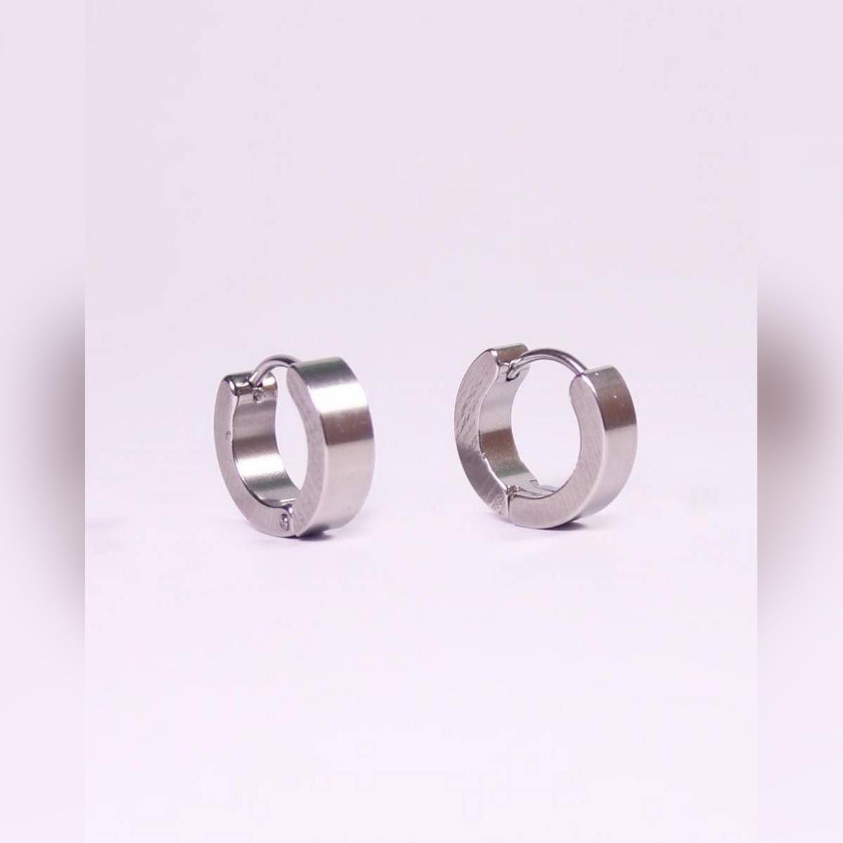 Stainless Steel Silver Ear Rings For Men