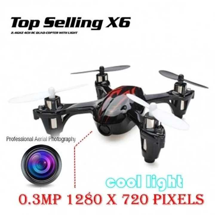 Top Selling X Six 2.4G 4CH RC Quadcopter Drone RTF with 0.3MP Camera LED Light