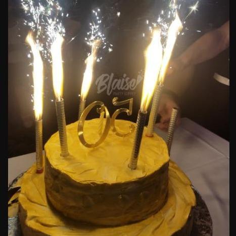 Birthday Cake Sparklers Candle 6 Pcs