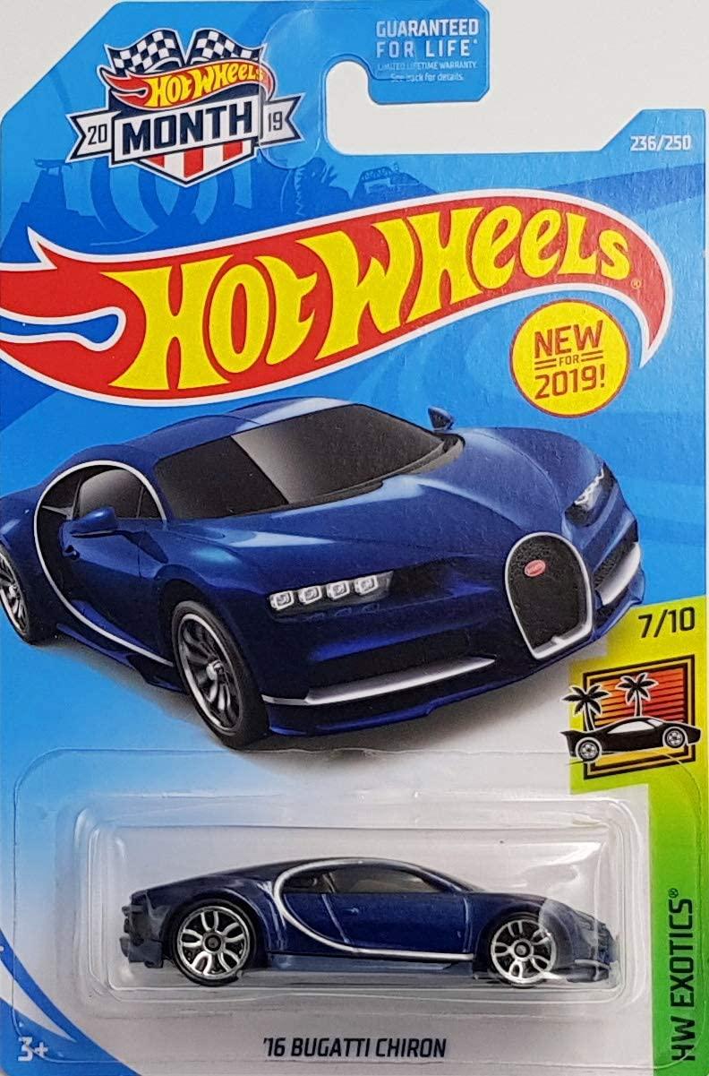 Hot Wheels 2019 Hw Exotics -16 Bugatti Chiron - Diecast Model