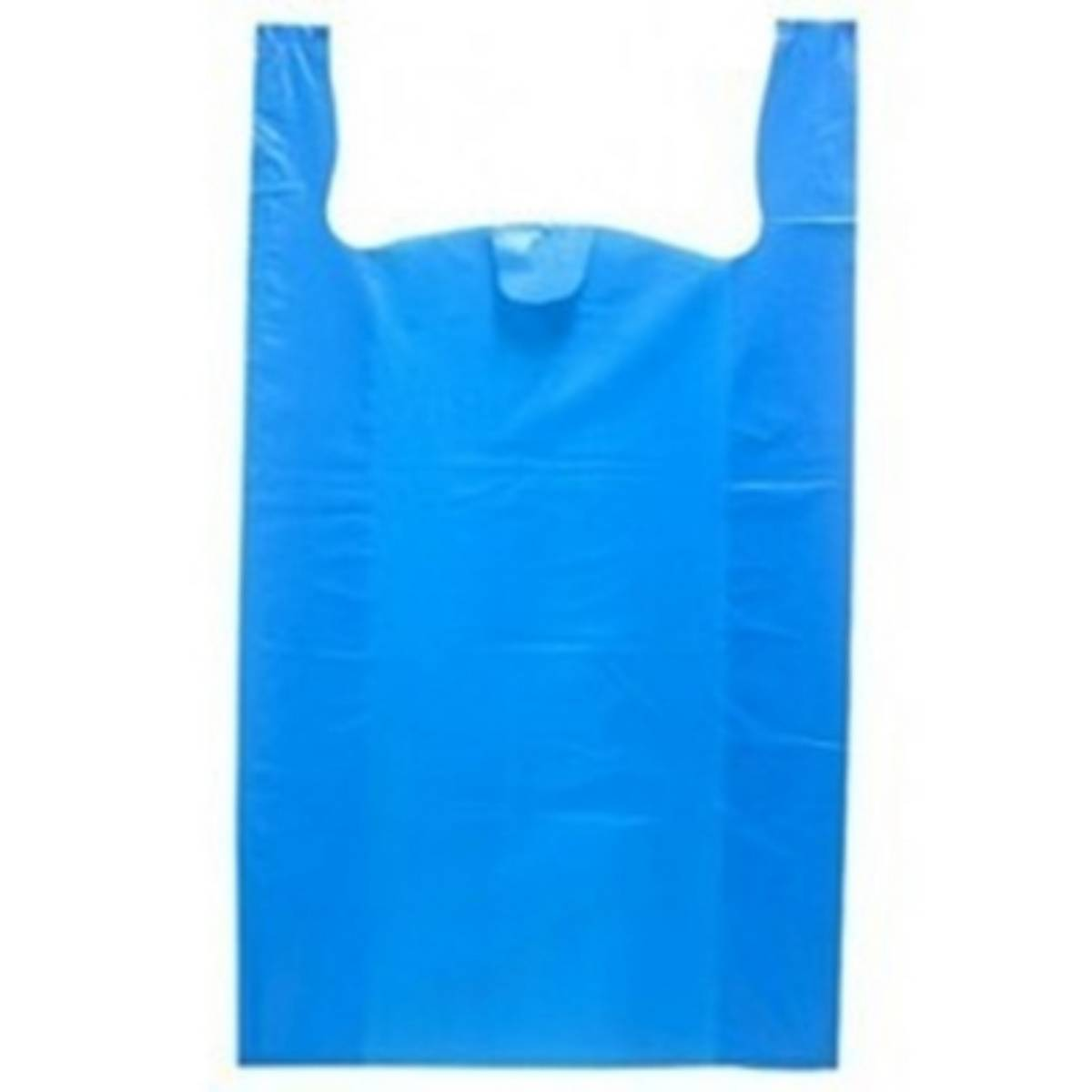 Pack of 100 - Plastic Shoppers for Shopping in Blue Colour