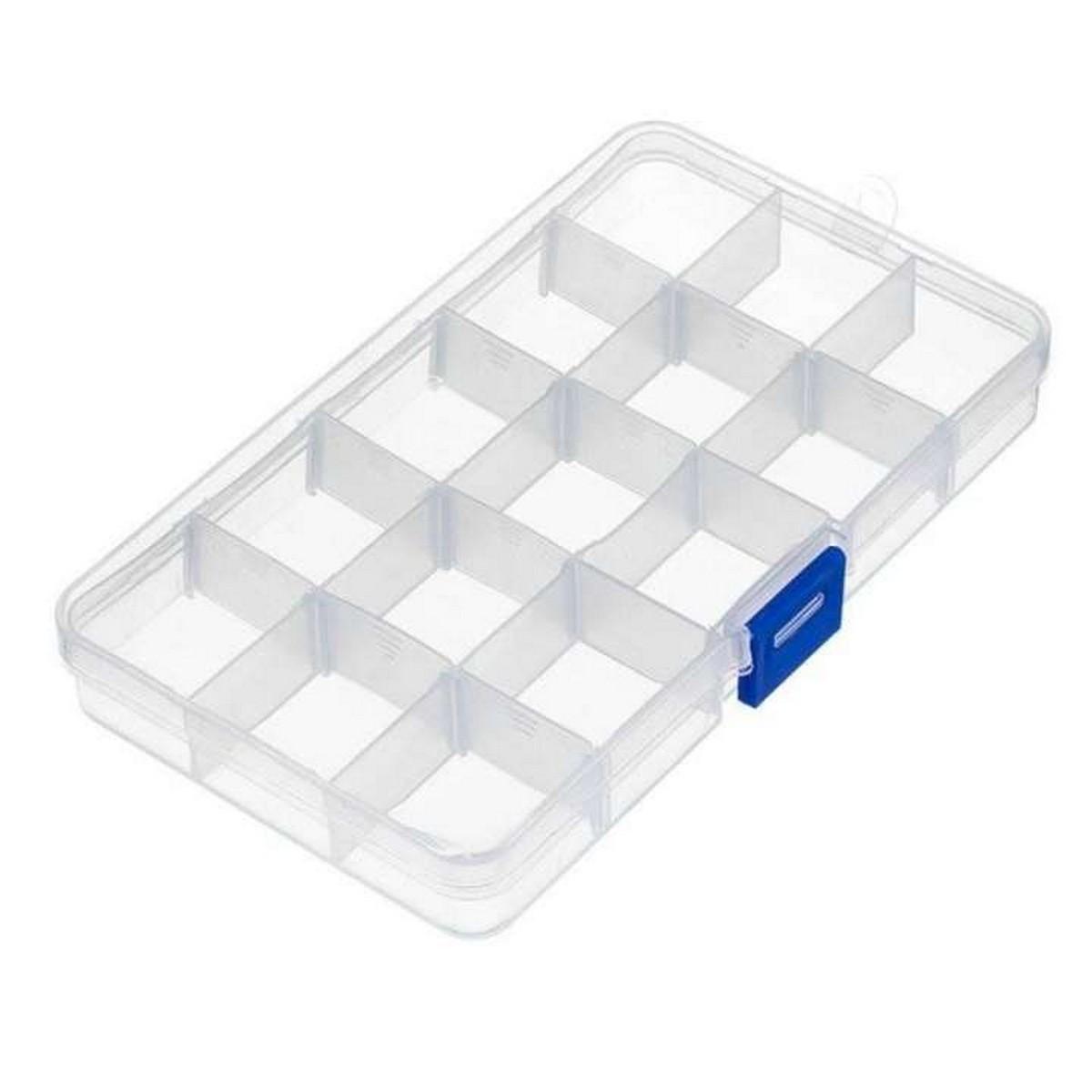 Bead Storage Box, Adjustable Jewelry Organizer Plastic Screw Container