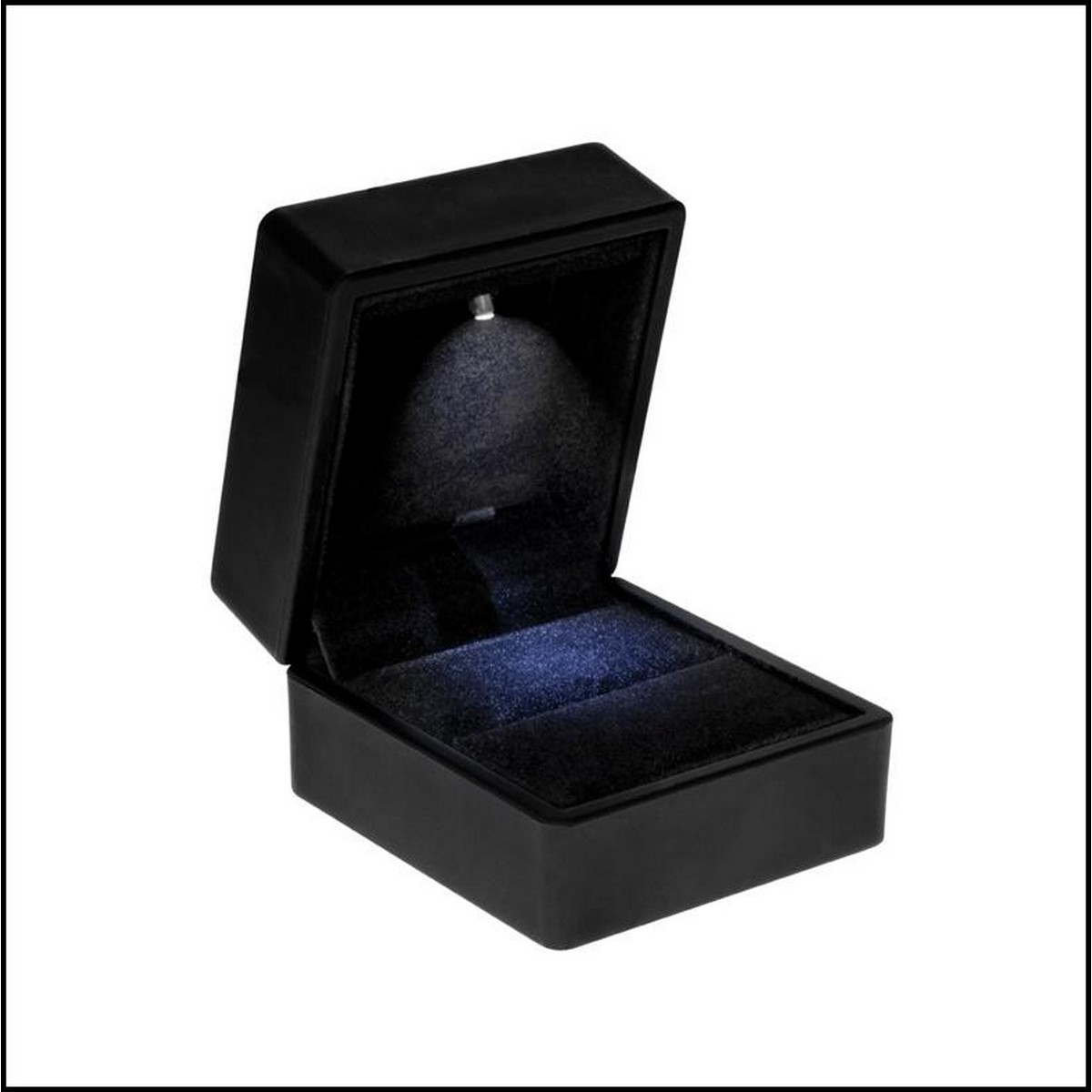 Spot Lighted Ring Box with LED for Proposal Engagement Jewelry Displaying Gift Holder Box Packaging
