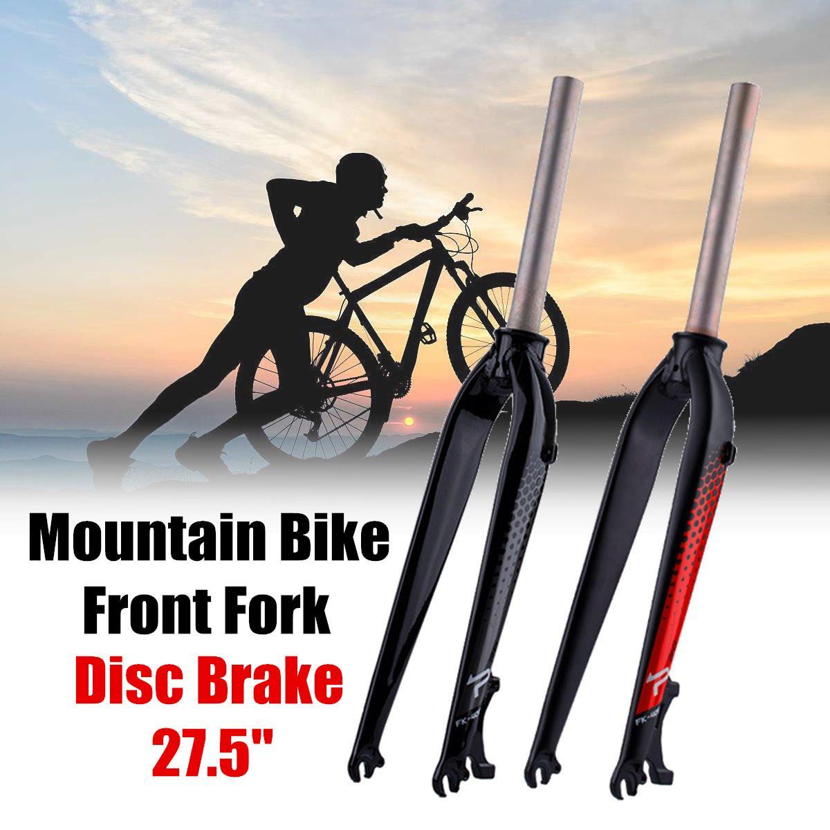 "26/"" 27.5/"" 29er Mountain Bike Bicycle Disc Brake Front Rigid Alluminium Fork MTB"