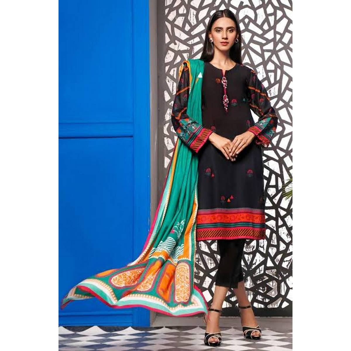 Lawn Digital  Shirt & Duppatta Printed 2 Pcs For Women - UnStitched Pre - Arrival Summer Collection 2021