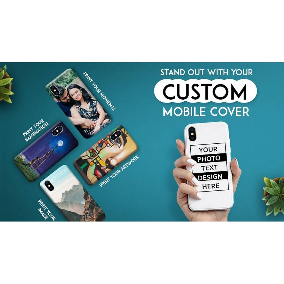 Customized Mobile Cover (Print your Picture / Name or any Logo) - Any Mobile Model