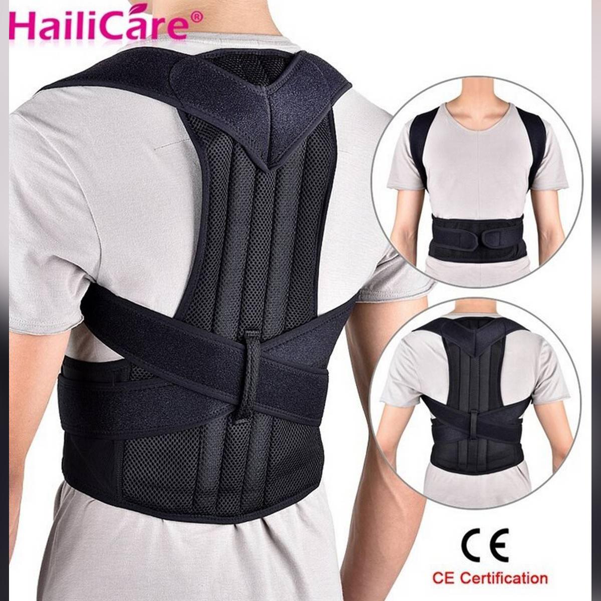 Posture Corrector for Women Men - Back Brace and Shoulder Support Trainer for Pain Relief & Improve Bad Slouching Problems - Fully Adjustable Clavicle Medical Belt Straightener