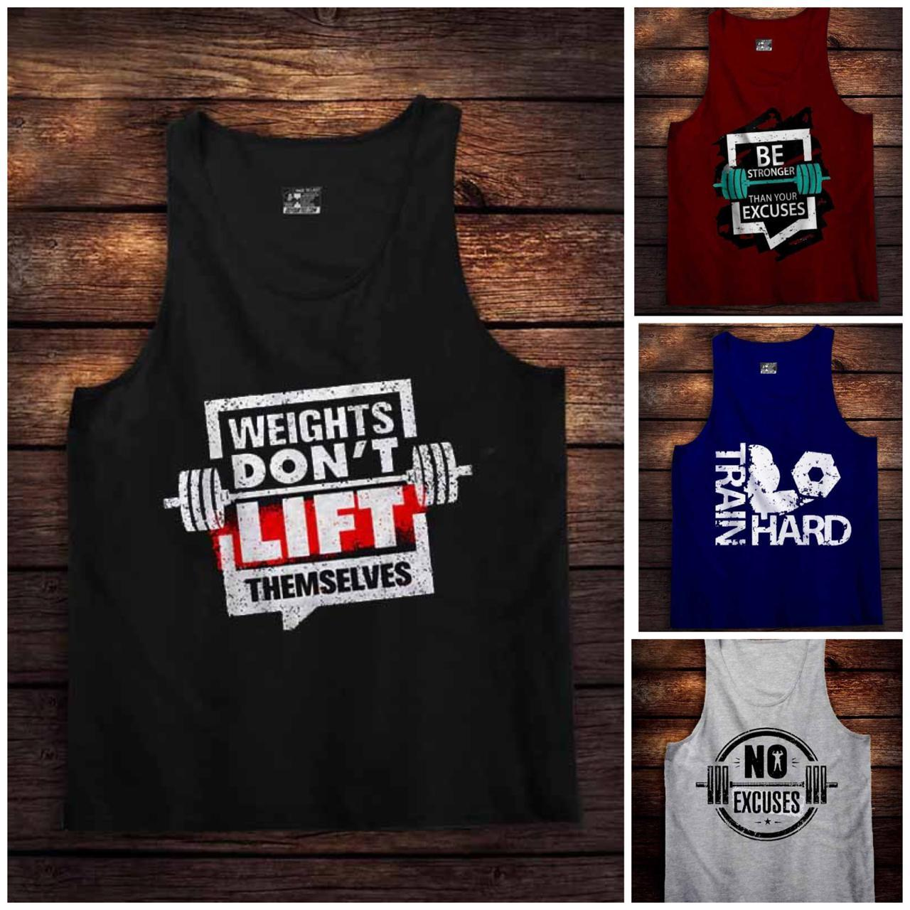 Pack of 4 Gym Tank Top for Men