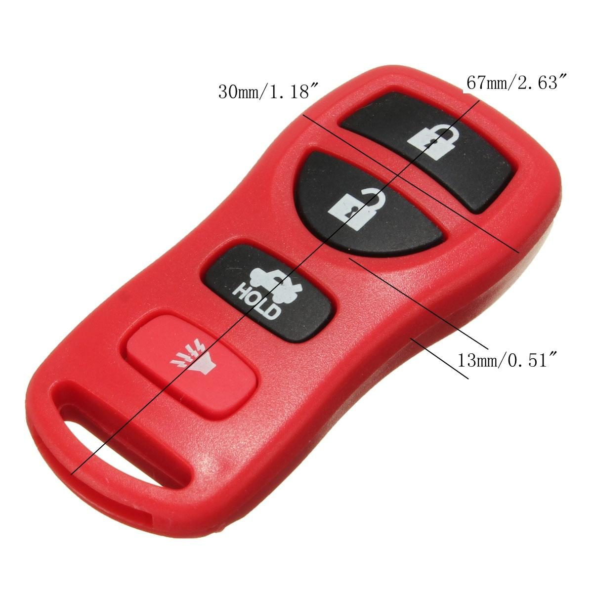 Replacement Keyless Entry Remote Key Fob Clicker Transmitter Control For  Nissan