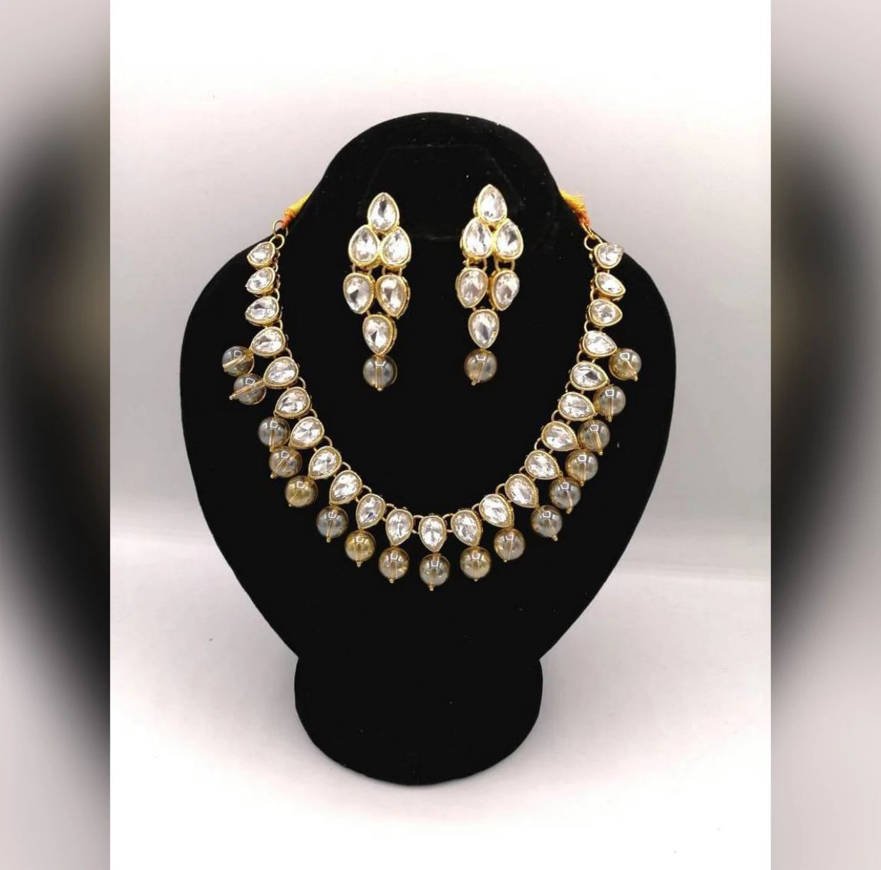 Fashion Infinity Different Colour Jewellery Necklace Bridal kundan set jewellery for Women Party,Wedding