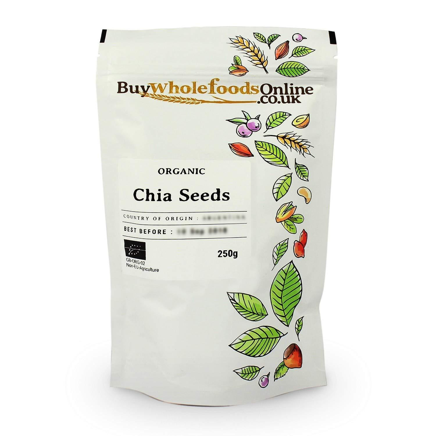 Buy Whole Foods Online Organic Chia Seeds 250 g