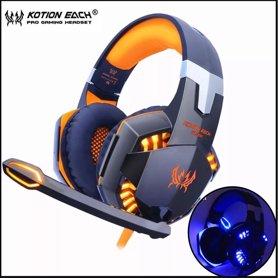 KOTION EACH G2000 Gaming Headset game Headphones Deep Bass Stereo Earphone  with LED light Microphone mic d4ae33ebf173