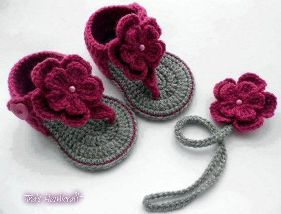 GIRLS SHOES AND HEADBAND FOR BABY / BABY CLOTHING/ CROCHET ACCESSORIES