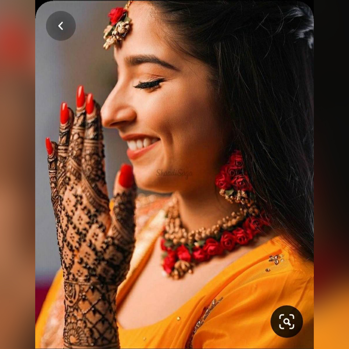 Red and Gold Nikkah Bridal Jewelry Set ( Necklace and Earrings)