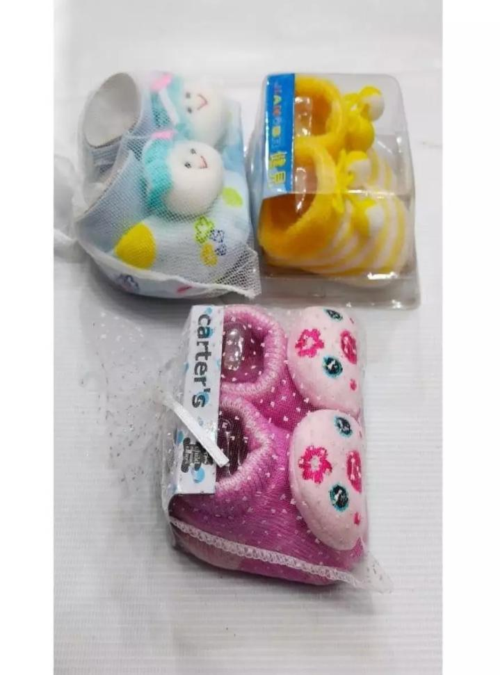 Thailand Imported Baby Booties Pack of 3