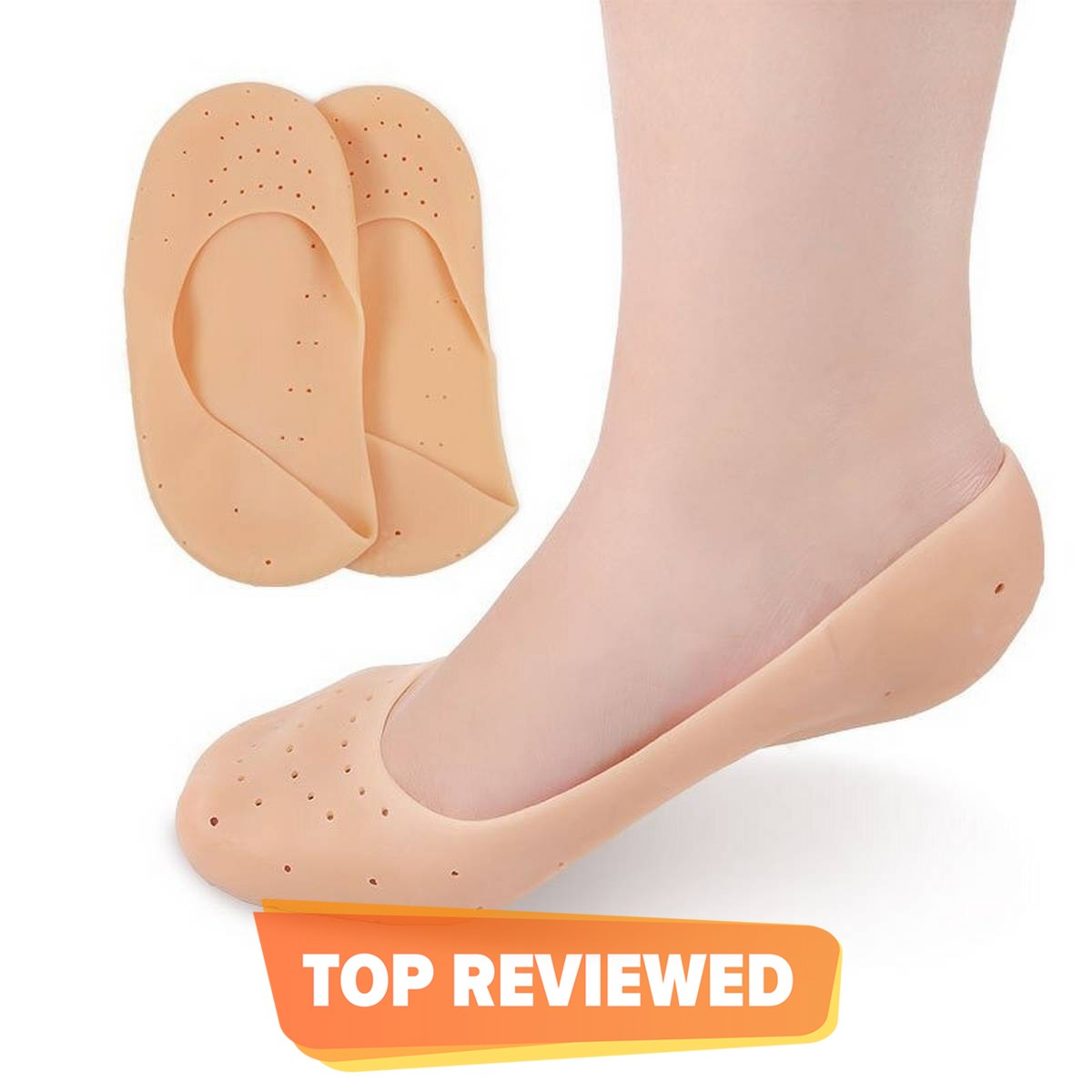 High Quality - Silicone Gel Pad Socks for Pain Relief and anti crack - 1 Pair