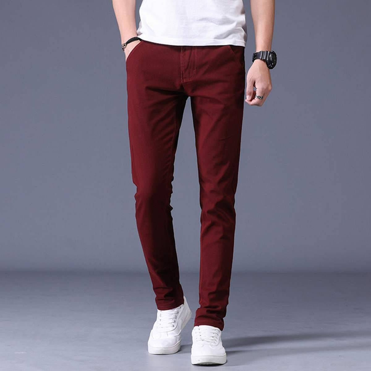 Beautiful Maroon Color Cotton Jeans Pant for Boys Street wear and Formal pants