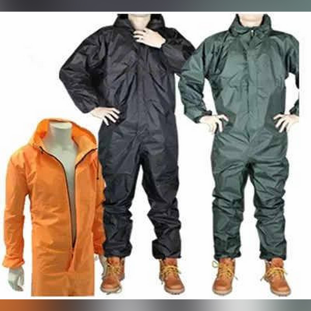 Waterproof Fashion Conjoined Full Body Over Rain Coat Suit and oil proof dust proof for outdoor activities