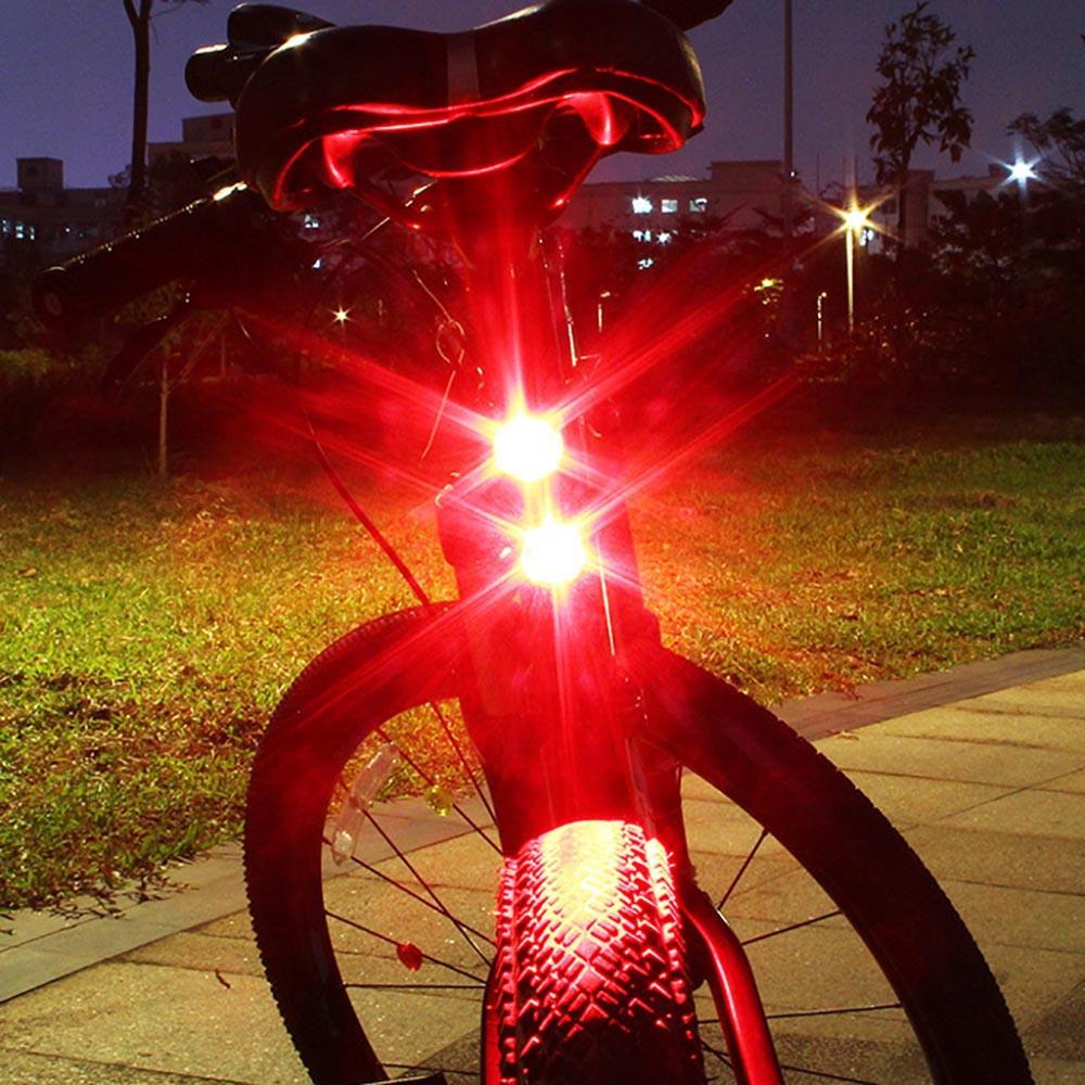 3 LED Rear Tail Bike Bicycle Back Light Night Safety Warning Flashing Lamp Red