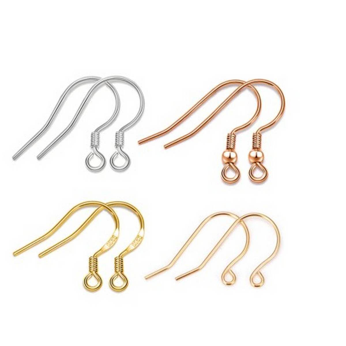 40 PCs / 20*17mm Gold Antique bronze Ear Hooks Earrings Clasps Findings Earring Wires For Jewelry Making Supplies Wholesale