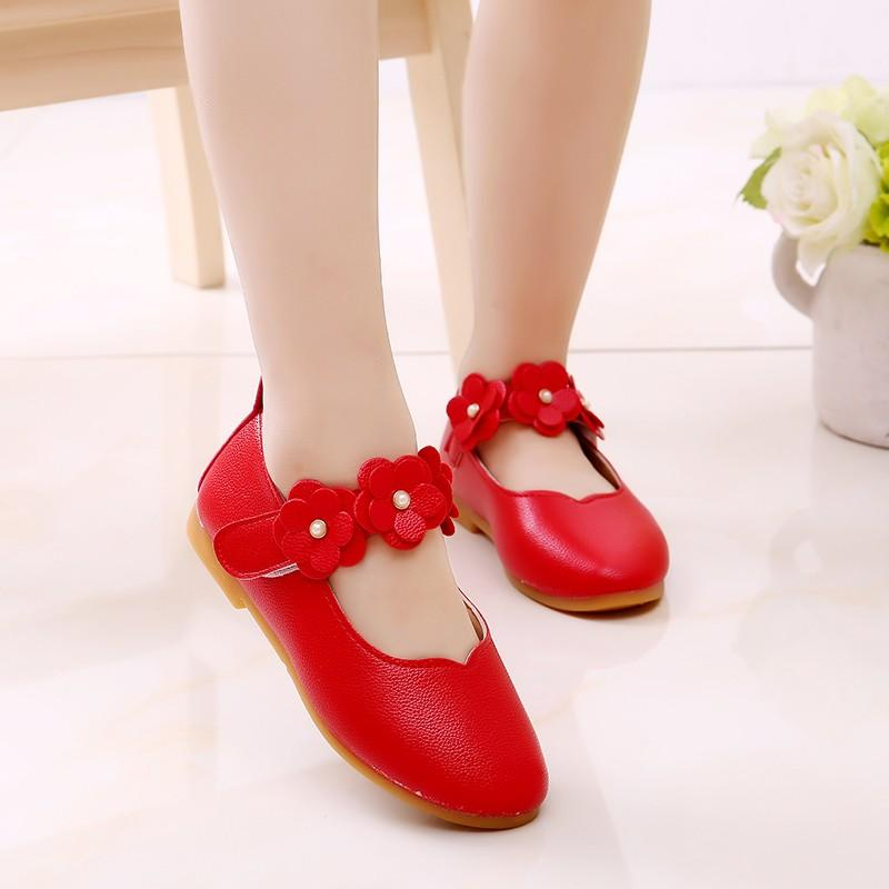 ee347c8a1783 Perfect Meet Princess shoes Children Kid Baby Girls Solid Flower Student  Single Soft Dance Princess Shoes