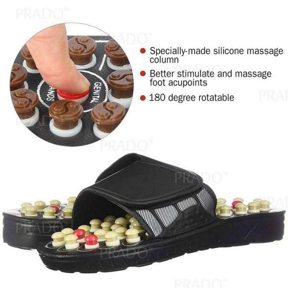 Acupressure Reflexology Foot Heel Crack Pain Healthy Massage Slippers Acupuncture Sandals Shoe Slipper
