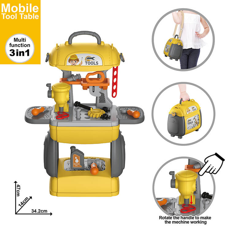 High Quality Kids Construction Toy Workbench for Toddlers Kids Tool Table Set Plastic Funny Detachable Repair Tool Toy Workbench Toy Best Gift For Kids