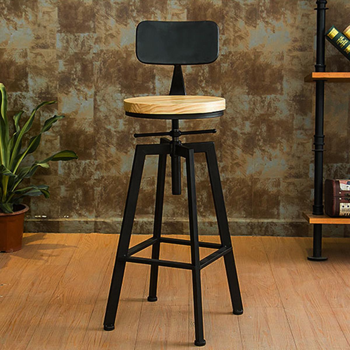 Strange Vintage Retro Rustic Kitchen Metal Breakfast Bar Stool Kitchen Counter Chair Ibusinesslaw Wood Chair Design Ideas Ibusinesslaworg