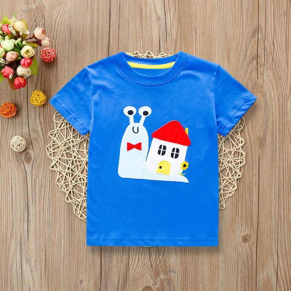 552acec1 Rainbowroom 2019 Children Kids Boys Summer Short Sleeved Cartoon Print T-shirt  Clothes