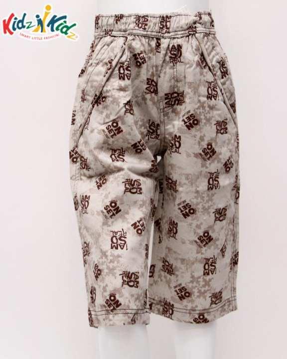 KIDZ N KIDZ Multi Checked Printed Twill Cotton Short For Boys