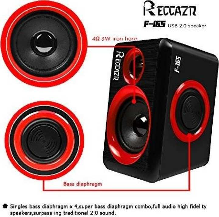 Computer Speakers with Heavy Bass,Subwoofer, Volume Control, 3.5mm Audio, USB Wired Powered Built-in Four Loudspeaker Diaphragm Multimedia Speaker for PC/Laptops/Desktop/ASUS/ACER Computer